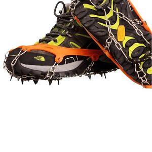 1 Paar Schuhspikes Anti Rutsch Spikes Kette  Eiskralle  Schneeschuhe Gr. 35-43