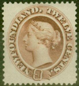 Newfoundland 1865 12c Red-Brown SG28 Fine & Fresh Mtd Mint