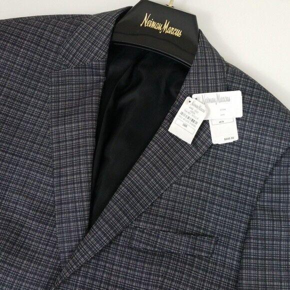 Hugo Boss Jeen1 Men's Virgin Wool Sport Coat Grid Pattern US 38 R NWT  C2