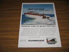 1960 Print Ad Evinrude Starflite II 75 HP V-4 Outboard Motors Milwaukee,WI