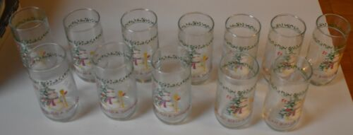 1 Drinking Glass WE CAN BUILD A SNOWMAN Clear Glass 16 Oz MANY AVAILABLE