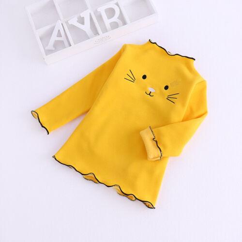 Todder Kids Baby Girls Winter Cartoon Cotton Warm Tops Ruffles T Shirt Sweater