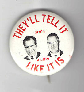 1968-NIXON-pin-AGNEW-Jugate-pinback-TELL-it-LIKE-it-is