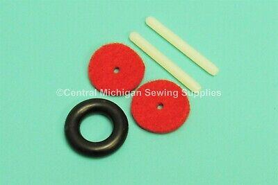 SPOOL PIN PLASTIC 172007 /& FELT SINGER SEWING MACHINE MODELS 401A 403 WHITE FELT