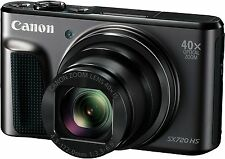 Canon PowerShot SX720 HS 20.3MP Digital Camera Black + Free Genuine Leather Case