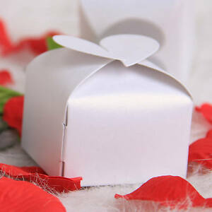 ... Heart-Style-Cake-Cookie-Candy-Box-Gift-Boxes-Wedding-Party-Favor-White