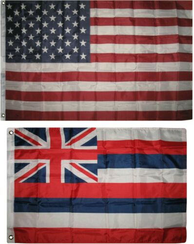 Wholesale Combo Lot 3x5 USA Flag /& State of Hawaii 2x3 2 Flags Banner