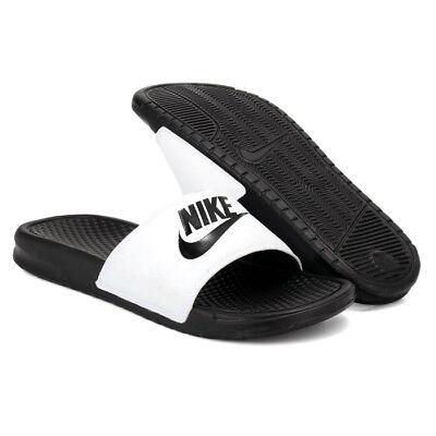 hot sale online 9a91b 7c480 New Nike Banassi JDI 343880-100 White Slippers Men | eBay