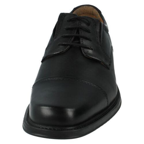 Con Zapatos Driggs De Hombre Piel Rebajas Gorra Cordones Clarks Negros FSwq0RBTx