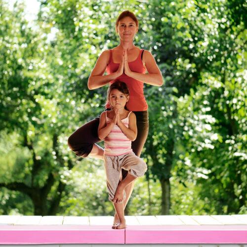 117CM Gymnastik Schwebebalken Training Turnen Balken Strapazierfähig Fitness PU