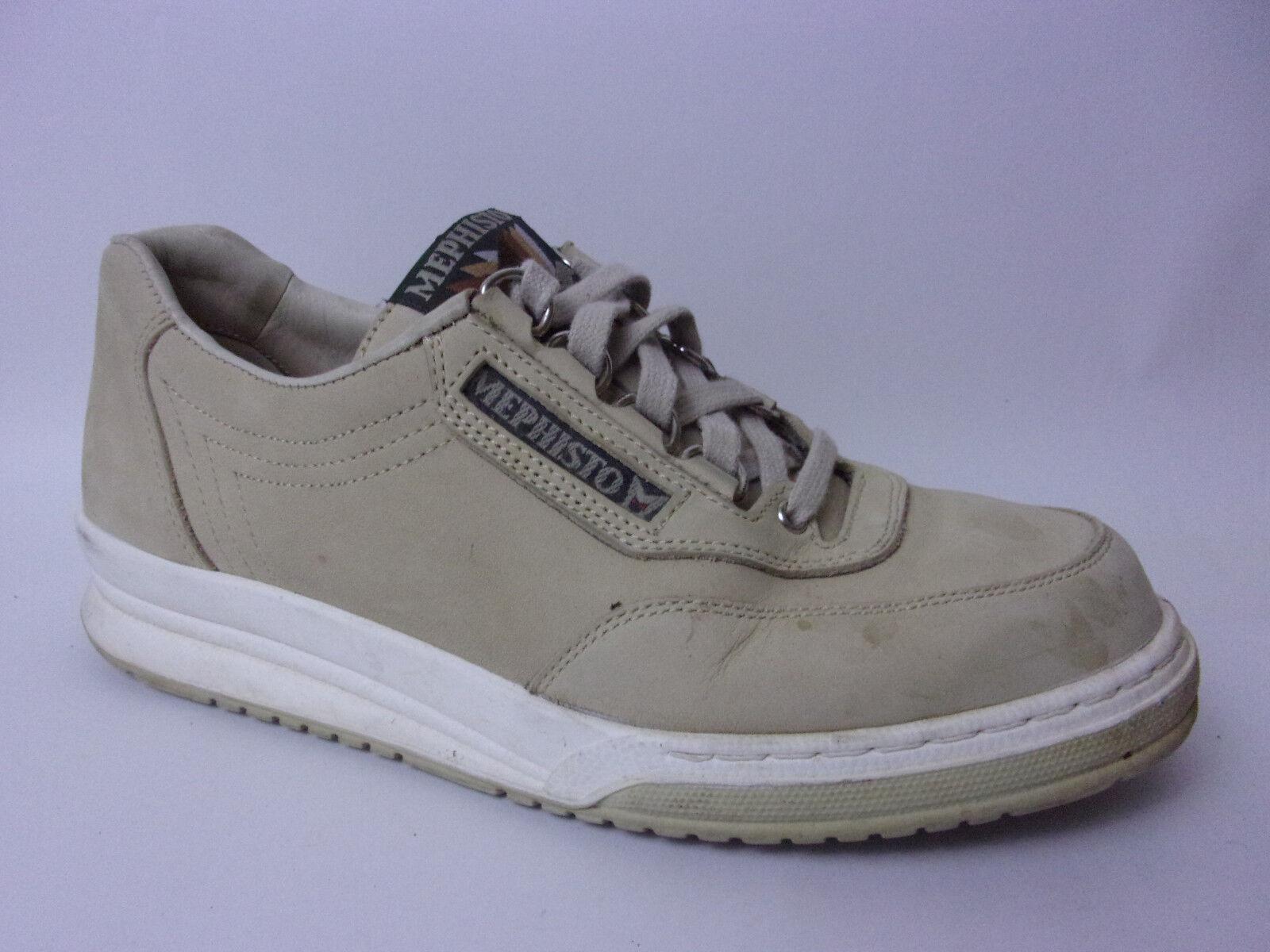 Mephisto mujer 7 Med Beige Cuero Zapatos Para Caminar Deporte Tenis Casuales Oxford