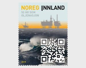 Noorwegen-2019-50jr-oliewinning-50yrs-oil-production-postfris-mnh
