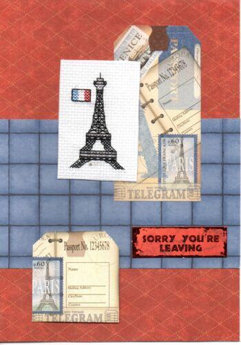 Viajes monumentos Tarjetas-hecho a mano de Londres París lo siento que está dejando New York