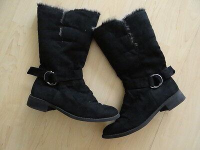 wunderschöne Schuhe Damenstiefel Stiefel Stiefeletten Gr. 41 Farbe schwarz TOP
