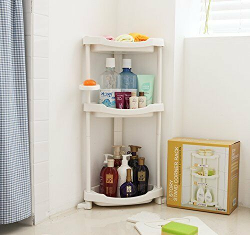 Corner Shower Caddy Bath Rack Holder 3 Tier Shelf Bathroom Organizer ...