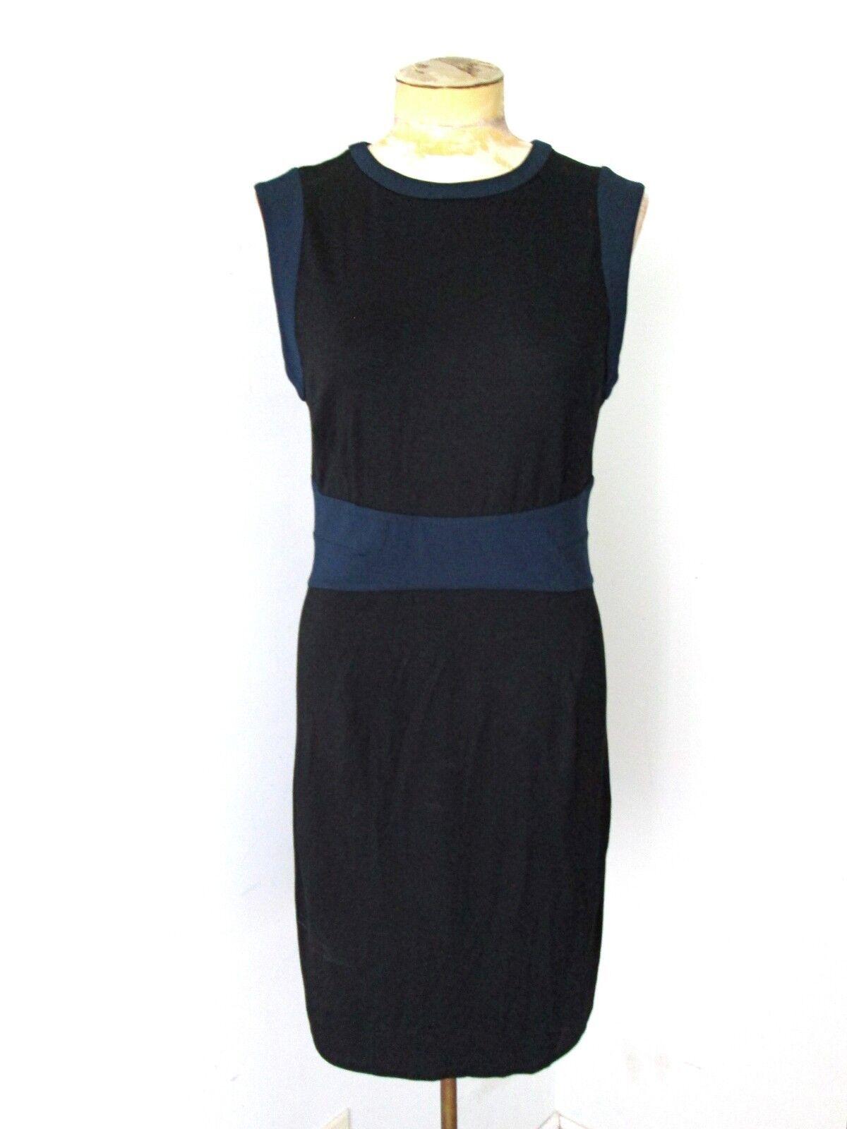 NWT Diane von Furstenberg schwarz navy stretchy knit shift dress Getchen Sz 10