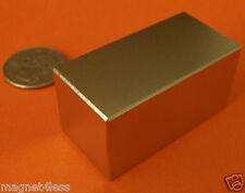 Strong Grade N52 2x1x1 Inch Rare Earth Neodymium Block Magnet
