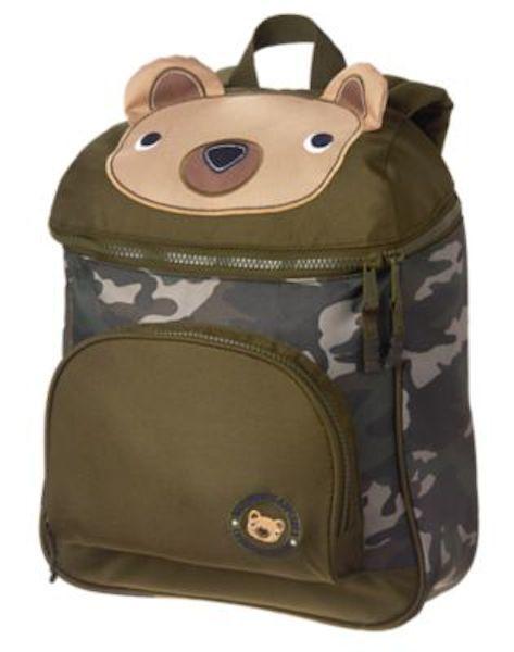 `NWT Gymboree Boys Backpack Bear Camo Uniform Shop Bag School