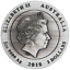 Australian-KOOKABURRA-2018-2oz-Silver-High-Relief-RIMLESS-Antiqued-2-Coin