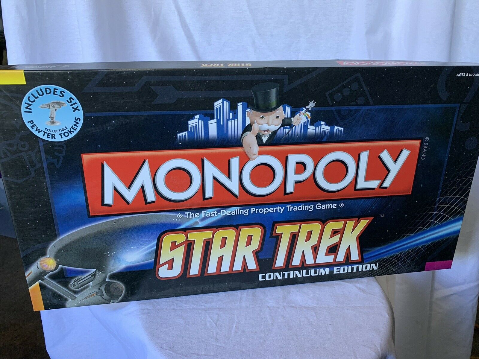 Star Trek Continuum Edition Monopoly Game Parker Bredhers 2009 Mint Sealed
