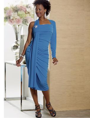 Ashro Formal Cocktail Dinner Party Cruise Engagement Glendora Blue Dress Gown Ebay