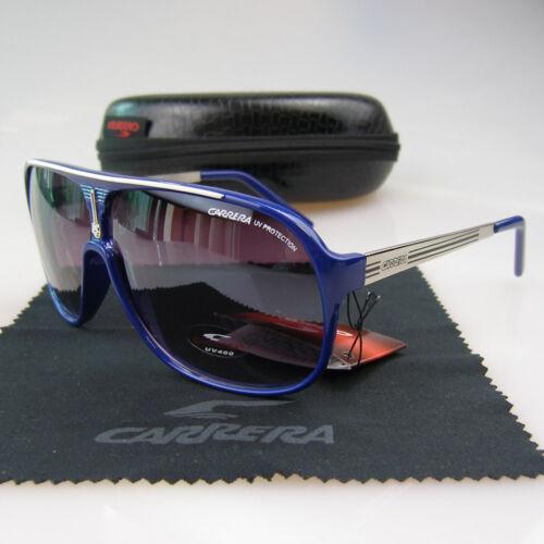 Men Womens Retro Sunglasses Unisex Square Matte Frame Carrera Glasses+Box C-05