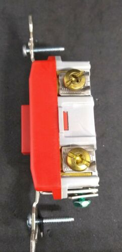 Pass Seymour PS20AC1REDL Single Pole Locking Switch Spec Grade 20A RED FREE SHIP