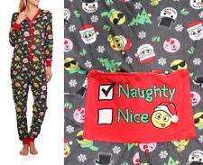Secret Treasures Emoji Dropseat No Foot Pajama Union Suit 1 PC XS S M L XL 2X 3X