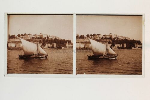 Constantinople Turkey Photo Plate stereo glass Stereoview Vintage