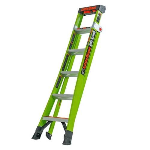 Little Giant King Kombo ™ industrielle-Heavy Duty 1 en 3-échelle Hi-Viz vert GRP