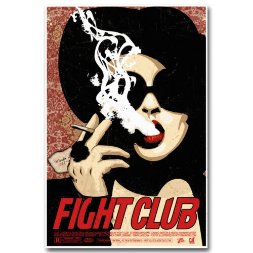 Fight Club 1999 Classic Movie Art Silk Poster Canvas Print 12x18 24x36inch 006