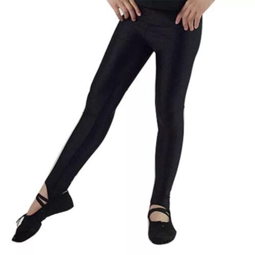 Danse Leggings-Shiny Lycra étrier Leggings de danse et gymnastique en Noir