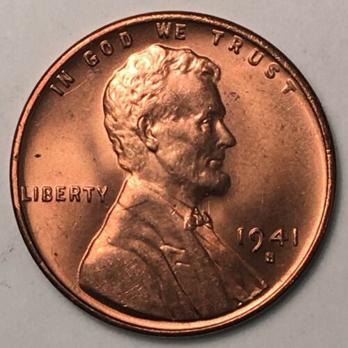 1941-S Lincoln Cent Gem BU RD