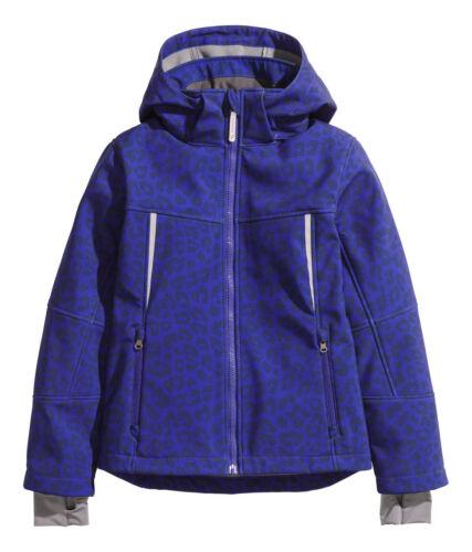 NEU H/&M Softhelljacke Übergangsjacke Jacke Kapuze Gr.134 blau zu Hose Jeans
