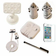Apple iPhone 4/4S Mobile Accessory Bundle Screen Protector Car Holder Charger