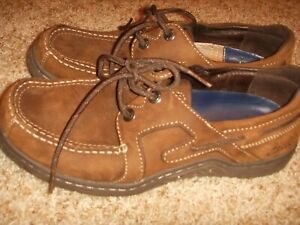 Clarks-86250-Brown-Boat-Shoes-Mens-Size-8M