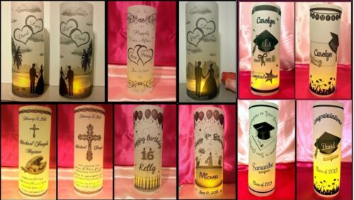 10 Personalized Family Reunion Luminaries Table Centerpieces Party Decorations 3