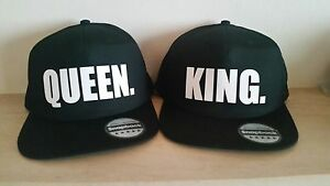 fd3a1cdb Image is loading KING-and-QUEEN-Snapback-Pair-Fashion-PRINTED-Snapback-