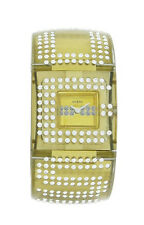 Guess W17518L2 Women's Analog Gold Tone Lucite with Swarovski Crystal Watch