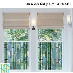 Self Adhesive Window Film Stained Glass Transparent Vinyl ...