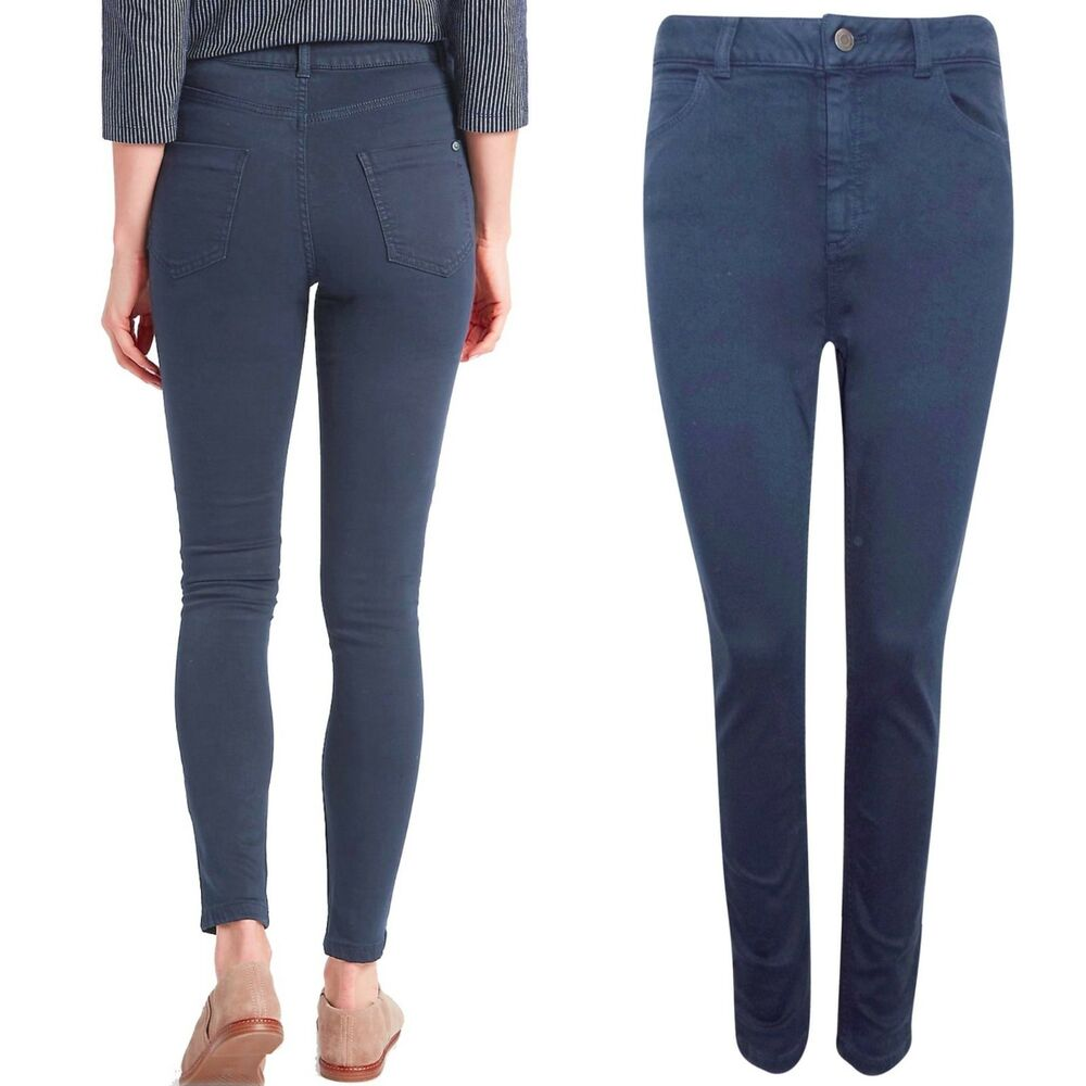 Brillant M&s Mid Rise Super Skinny Tencel Blend Jeans ~ Taille 8 Reg ~ Bleu Ni Trop Dur Ni Trop Mou