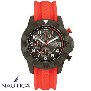 Nautica-NAI17514G-NSR-104-Armband-Uhr-Herren-Chronograph-Silikon-NEU
