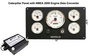 Details about Caterpillar Marine Engine Instrument Panel With NMEA 2000  Engine Data Converter