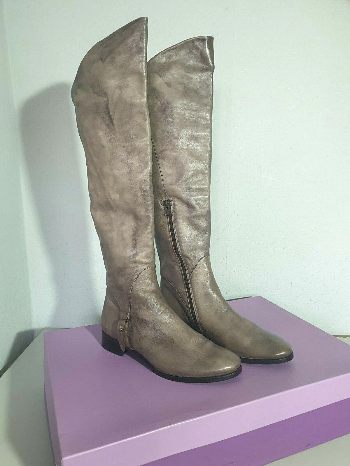 PAUL BARRITT Damen Stiefel ;  Gr. 39  ; Echtleder  taupe  Vintage-Look NEU