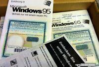 Windows 95 Os Betriebssystem, Usb Unterstützung, Rarität, Produkt Key Mit Buch