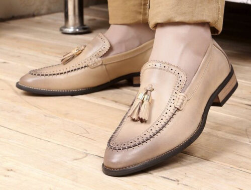 Fashion Mens Dress Casual leather tassel Wingtip loafer Oxford Brogues Shoes
