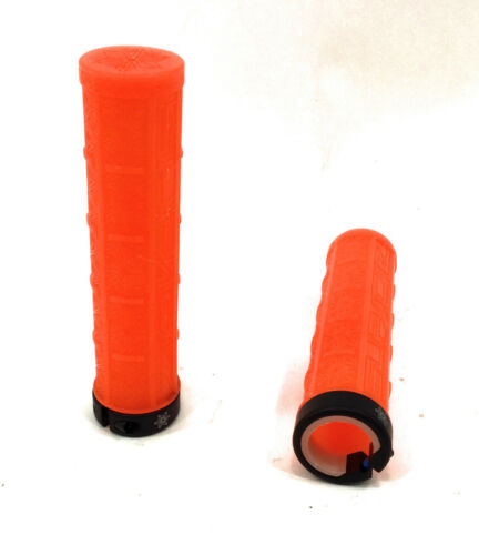 Supacaz Grizips Lock-On Grips Grips /& Tape 135mm Neon Orange Clear//Black