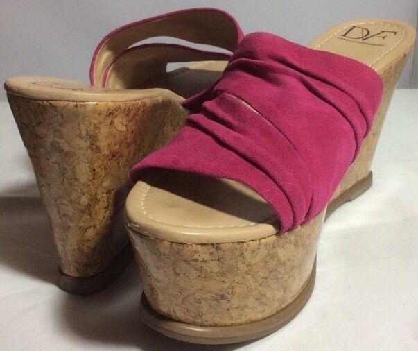 Diane Von Furstenberg rosado Gamuza Sandalias de de de plataforma se adapta tamaño 8  mejor marca