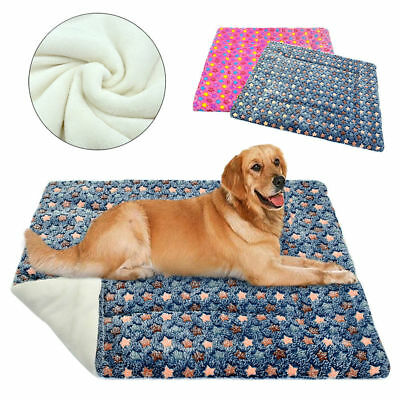 Cozy Large Dog Crate Bed Warm Plush Pet Mat For Kennel