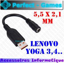 adaptateur cable connecteur alimentation portable 5.5X2.1mm LENOVO YOGA 3 YOGA 4